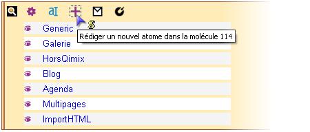 Rédiger un nouvel atome